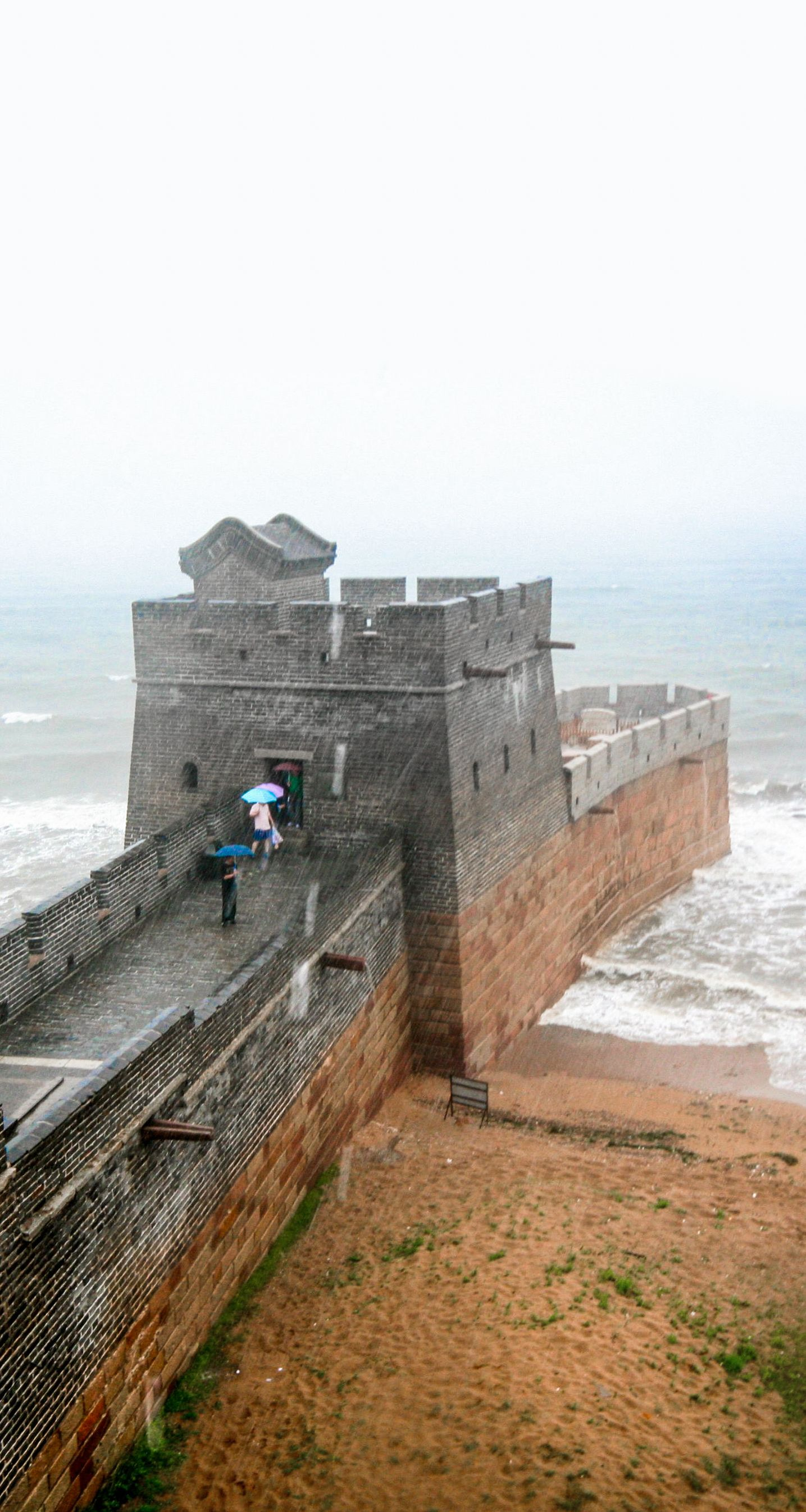the great wall of china where it ends at the bohai sea on great wall of china id=53189