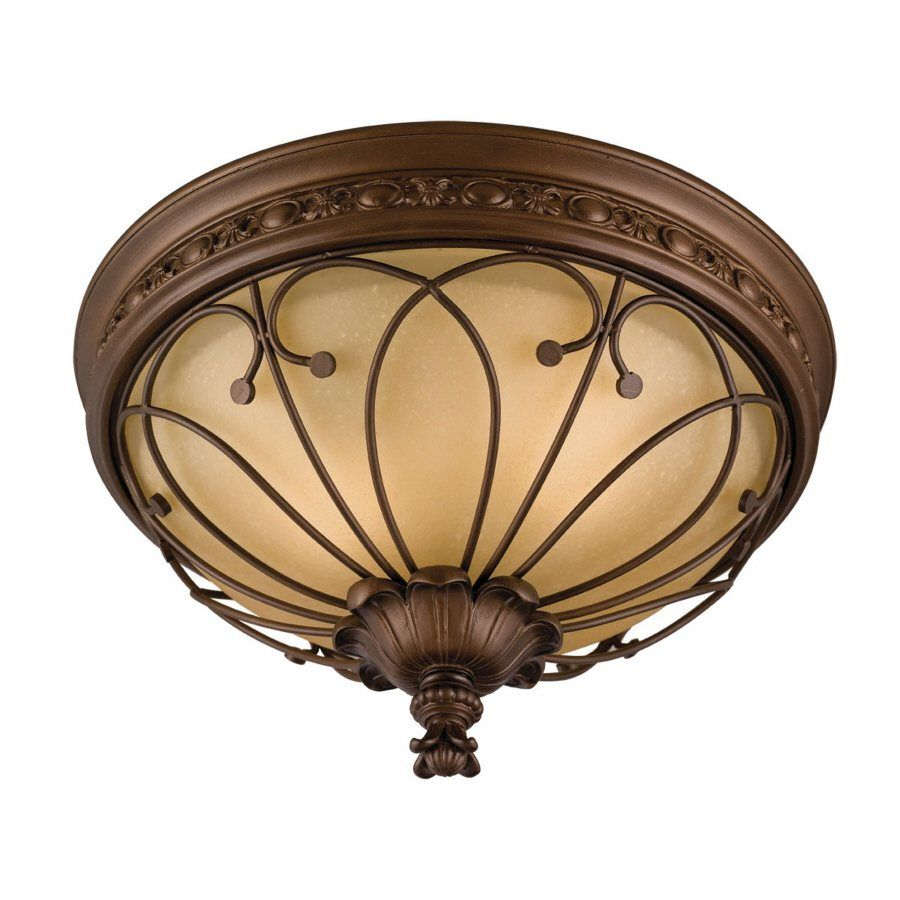 allen roth Bronze Ceiling Flush Mount - maybe for rec room | For the ...