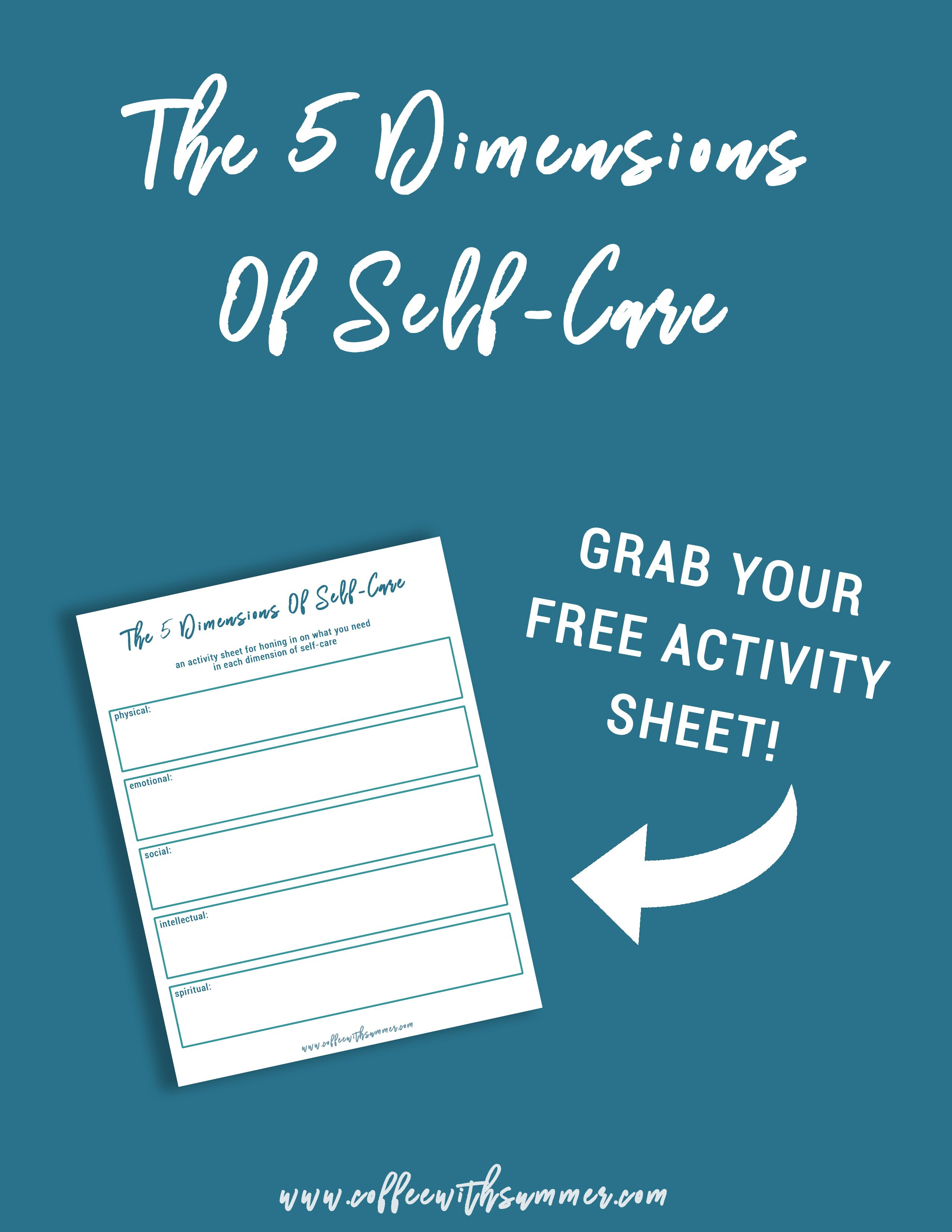 The 5 Dimensions Of Self Care