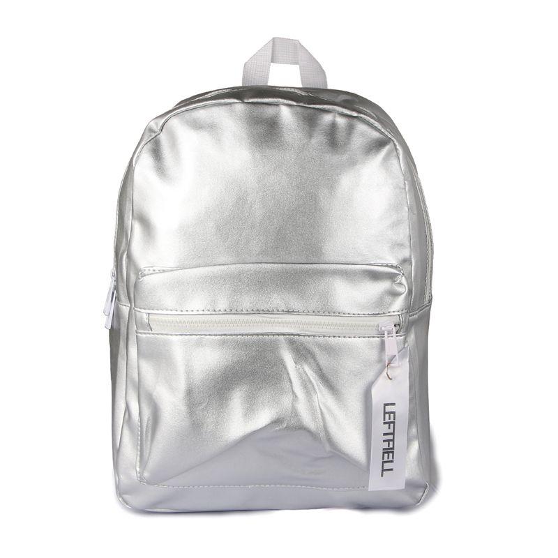 Shiny Mochila Roze Zilver Schoolrugzakken voor Tienermeisjes Mode Trend Rugzak PU Lederen Rugzak voor Vrouwen Rugzak L1069