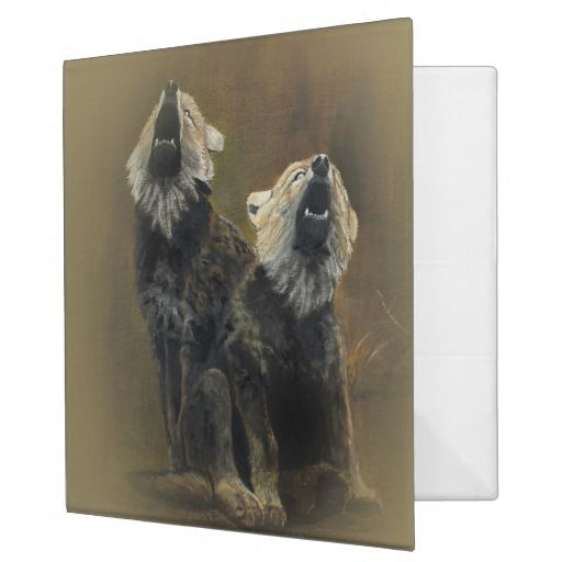 wolf puppies 3 ring binders an eye catching avery custom signature