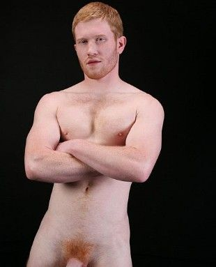 Hunky redhead naked men