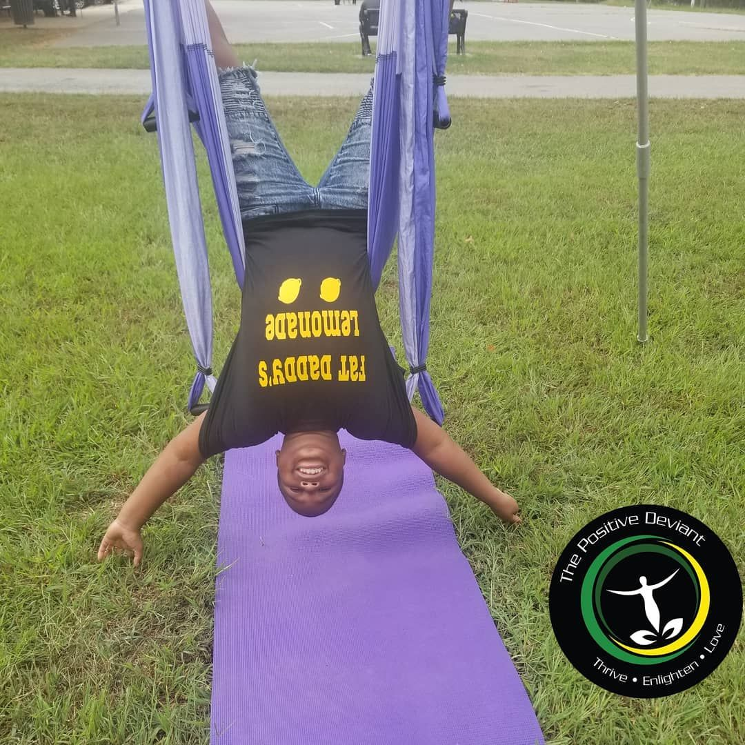 Yoga is for EVERY BODY. Check out these Little Positive Deviants experiencing the Yoga Trapeze.  Sch...