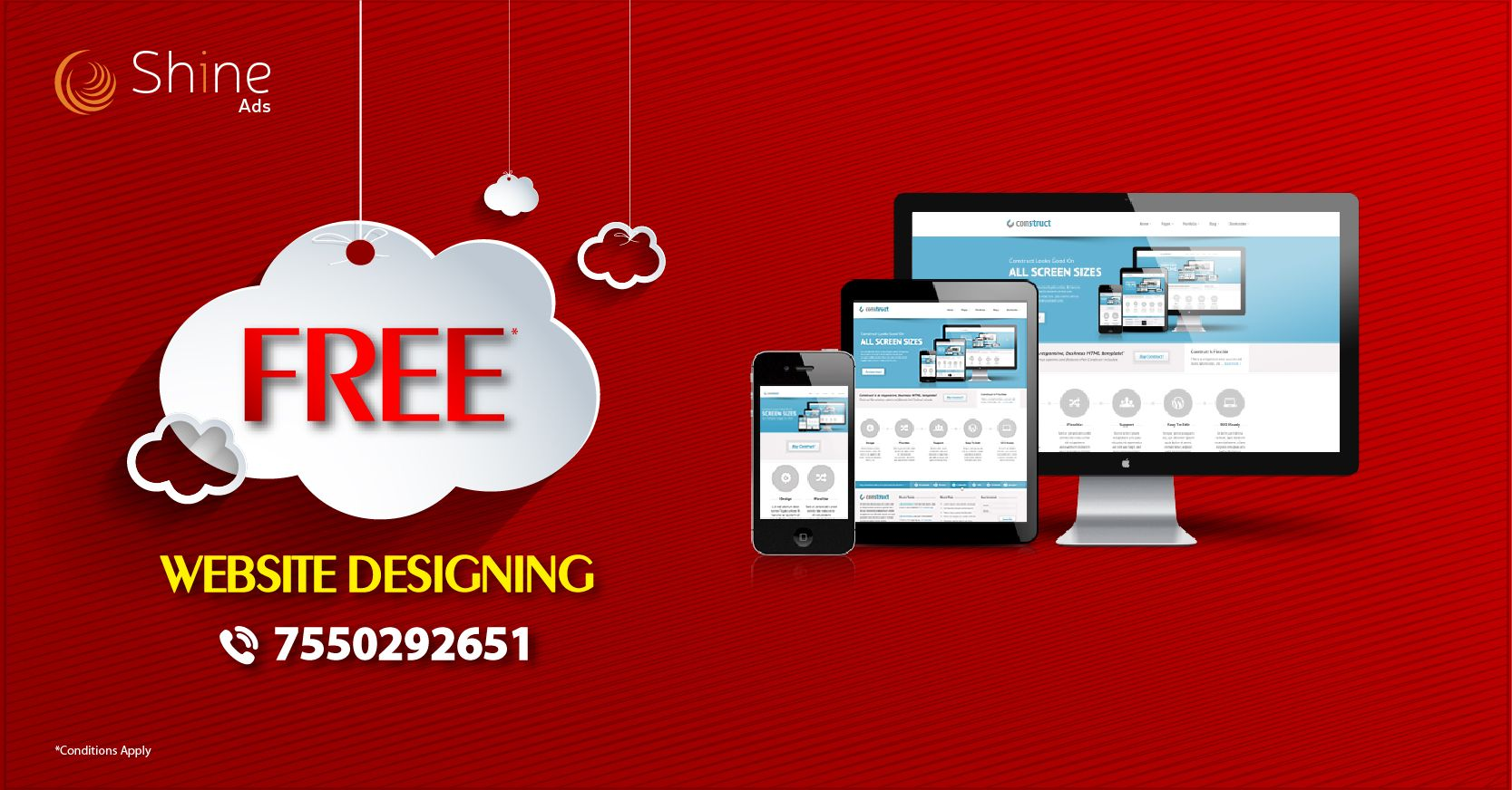 Greetings from Shine Ads! We have a special offers for you