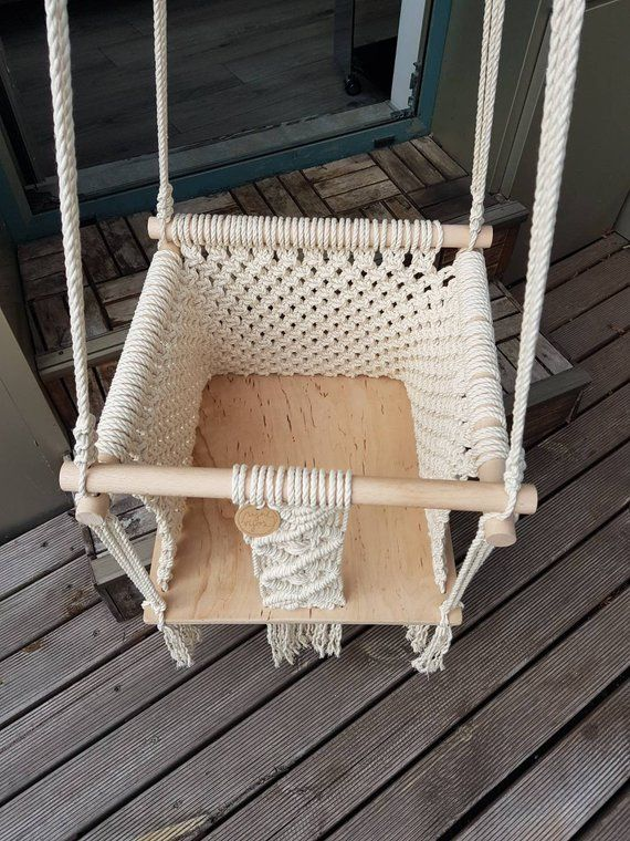 Macrame swing Baby swing Baby hammock Swing chair Gift
