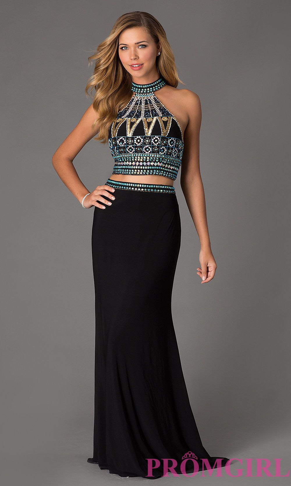 Image of Two Piece Dave and Johnny Prom Dress 1166 Style: DJ-1166 ...
