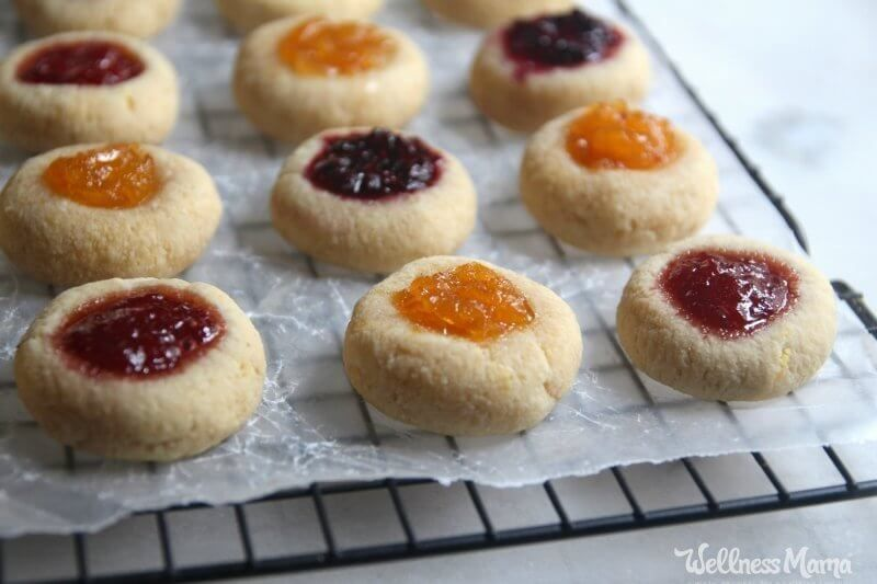 Easy Jam Thumbprint Cookies Gluten Free Paleo Recipe Jam
