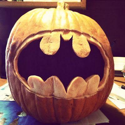 Batman Symbol Pumpkin Shes Crafty Pinterest Pumpkin Carvings