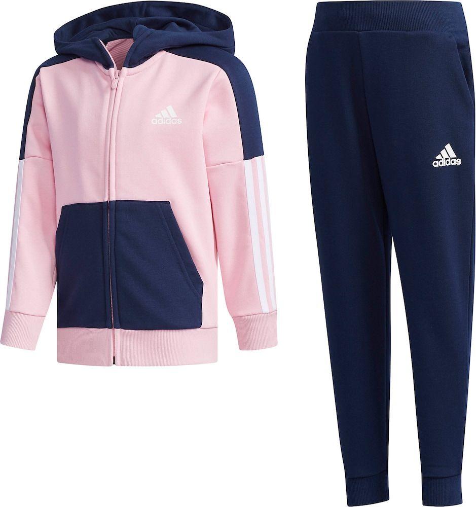 Hooded Trainingsanzug · blau · Mädchen » adidas® | INTERSPORT