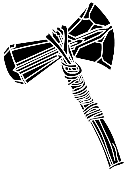Thor S Axe Silhouette Google Search Axe Drawing Marvel Drawings Thor