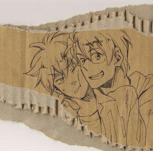 England and America  <--pinning this for the usuk and hetalia and everything, but also because i'm not the only one who uses very random things like cardboard to write and draw on