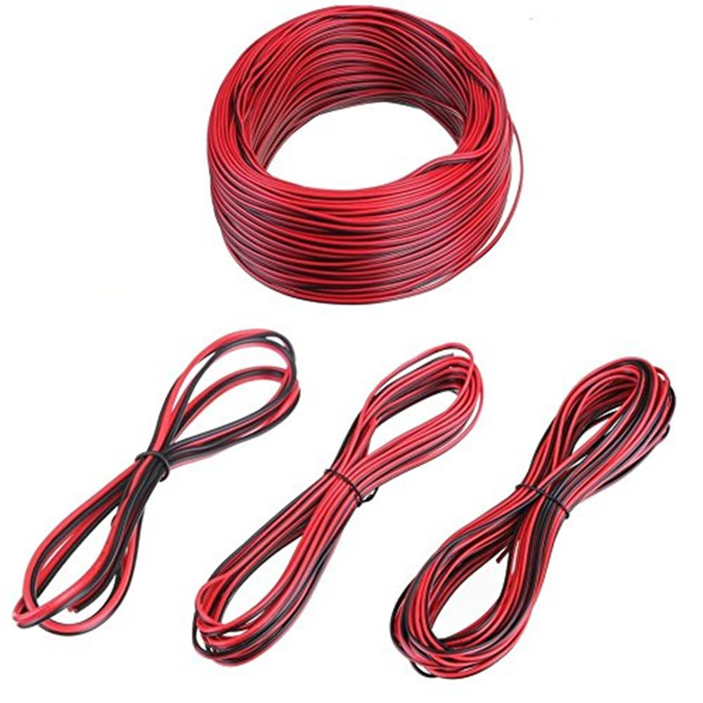 10 Meters Electrical Wire Tinned Copper 2 Pin Awg 22 Insulated Pvc 5mm Dc Power Solder Plug End Connection For Cctv Cable Extension Led Strip
