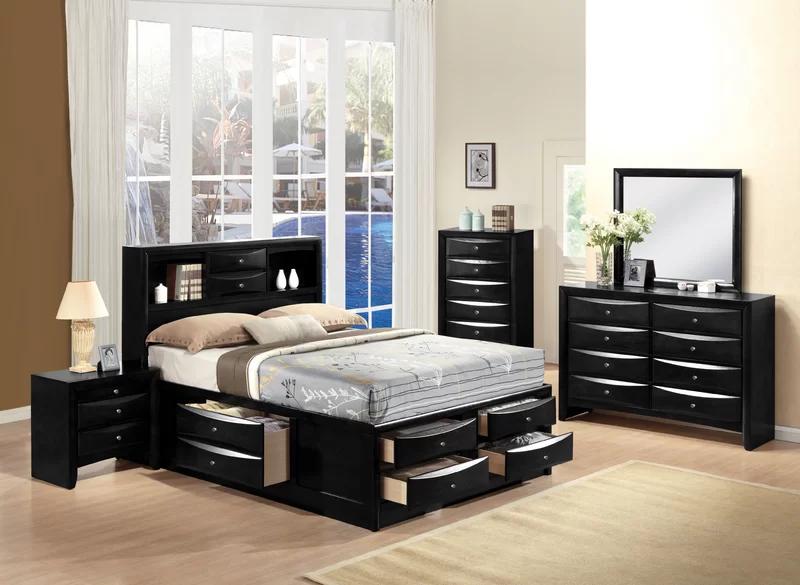 Braymer Storage Platform Bed Black Bedroom Furniture Bedroom Set Bedroom Sets