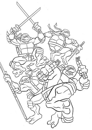 2014 Teenage Mutant Ninja Turtles Coloring Pages - Enjoy Coloring ...