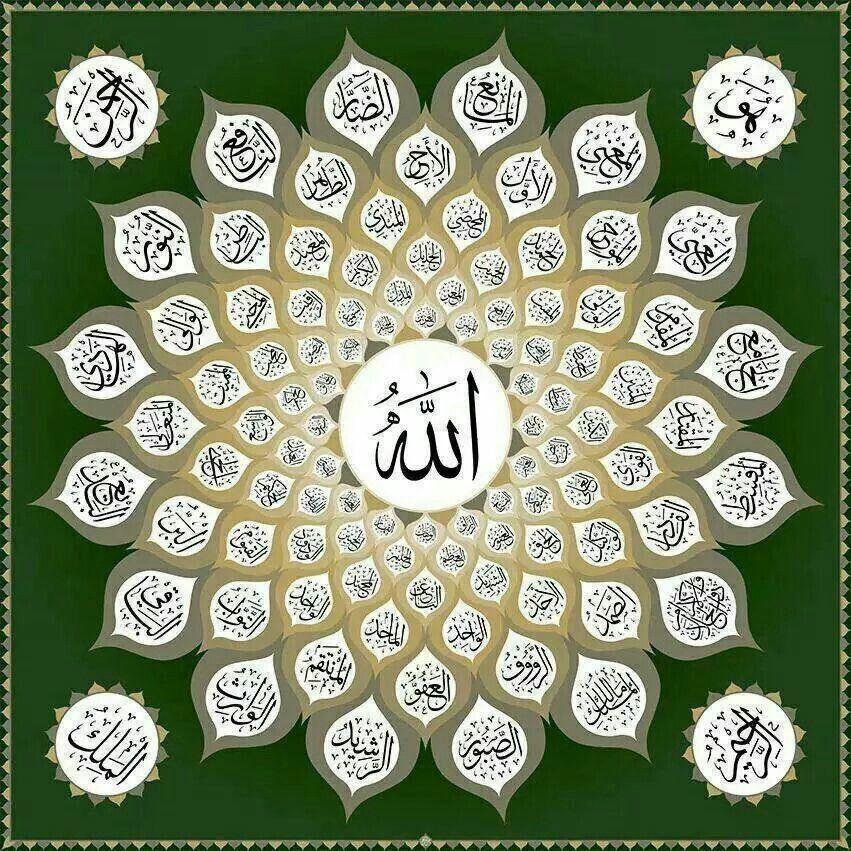 Allah's Beautiful Names... Kaligrafi, Seni kaligrafi