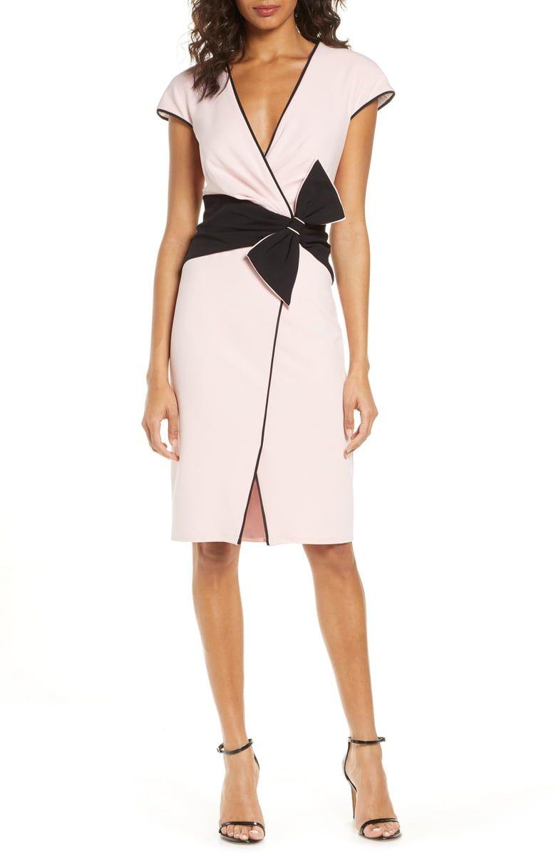 Tadashi Shoji Bow Crepe Cocktail Dress Main Color Petal Black Cocktail Dresses Online Fashion Clothes Women Nordstrom Dresses [ 1196 x 780 Pixel ]