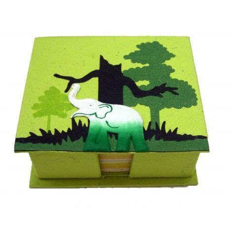 Green Fair Trade Eco Maximus Elephant Dung Paper Note Holder