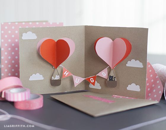 DIY popup Valentines card 3 d standing cards – Different Valentines Cards