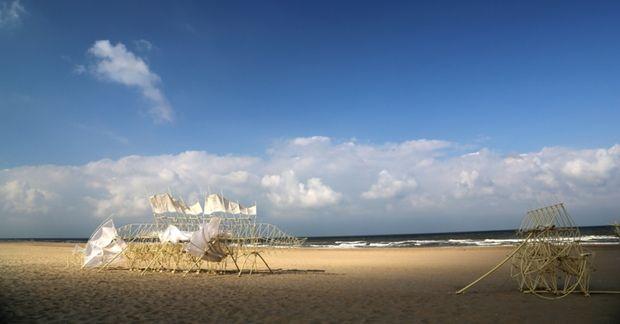 Las strandbeests de Theo Jansen aterrizan en la edición de Art Basel en Miami Beach