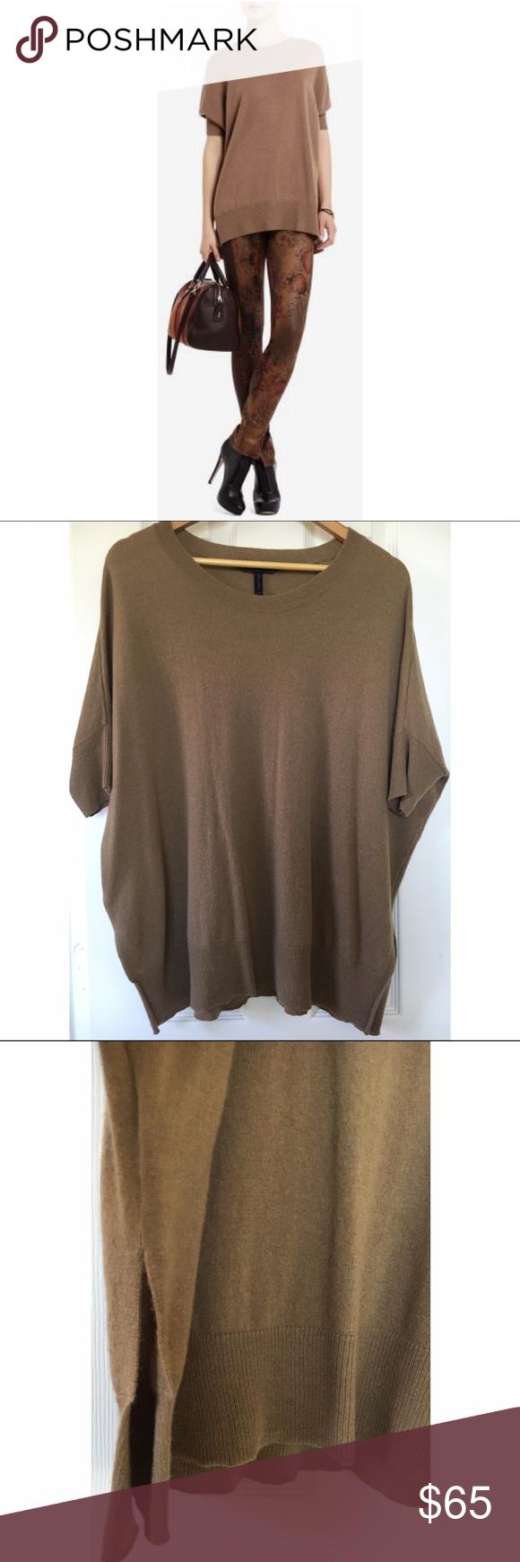BCBGMAXAZRIA Brinkley 100% cashmere tunic sweater BCBG Max Azria ...