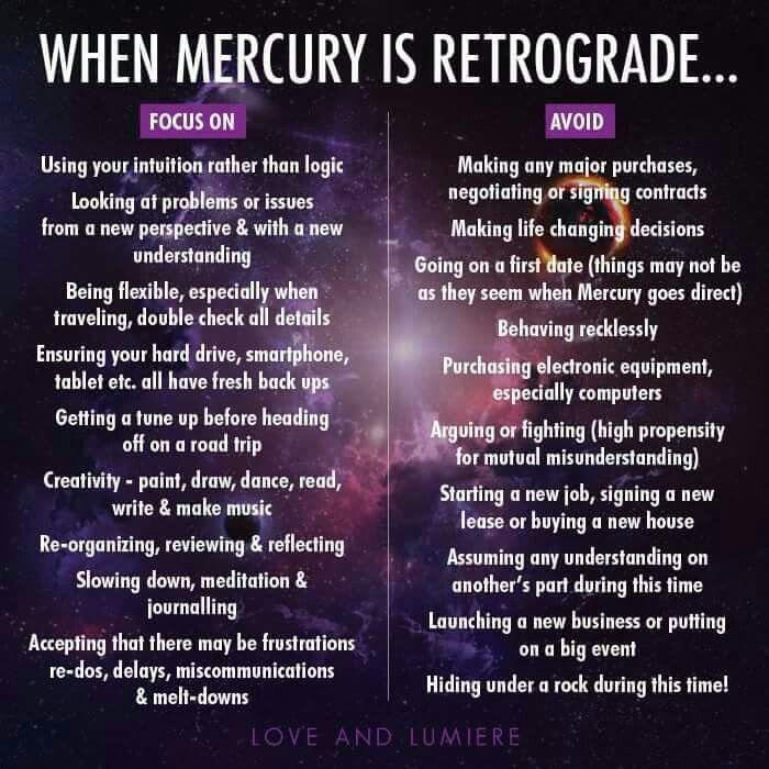 Mercury in retrograde  Feeling your feelings is an important