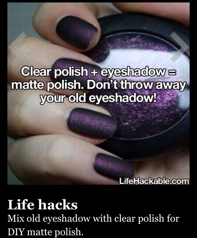 EASY Diy Matte Nail Polish! Im So Going To Do This!