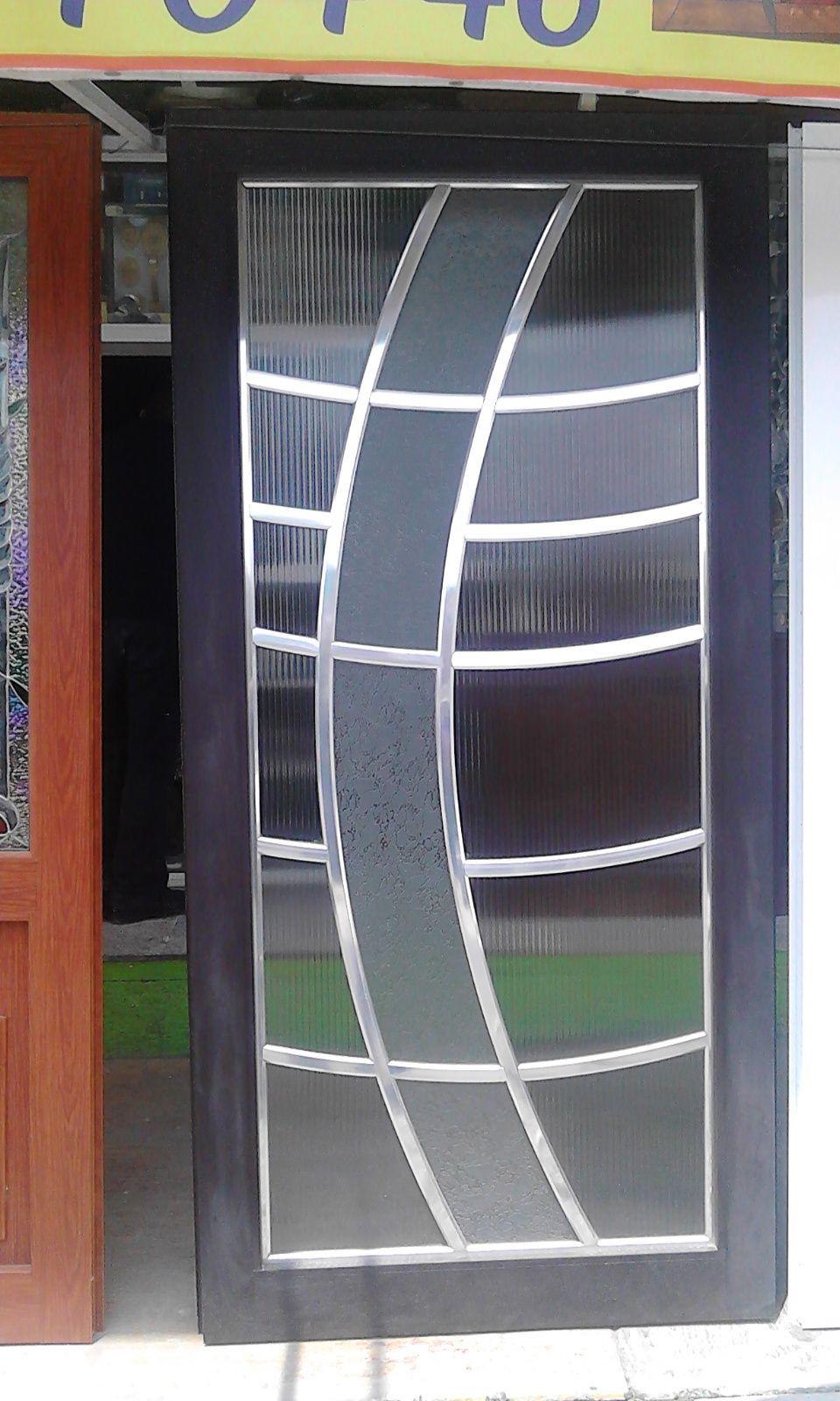 puerta de aluminio y vidrio de un fabricante de puertas ventanas y vitrales en san