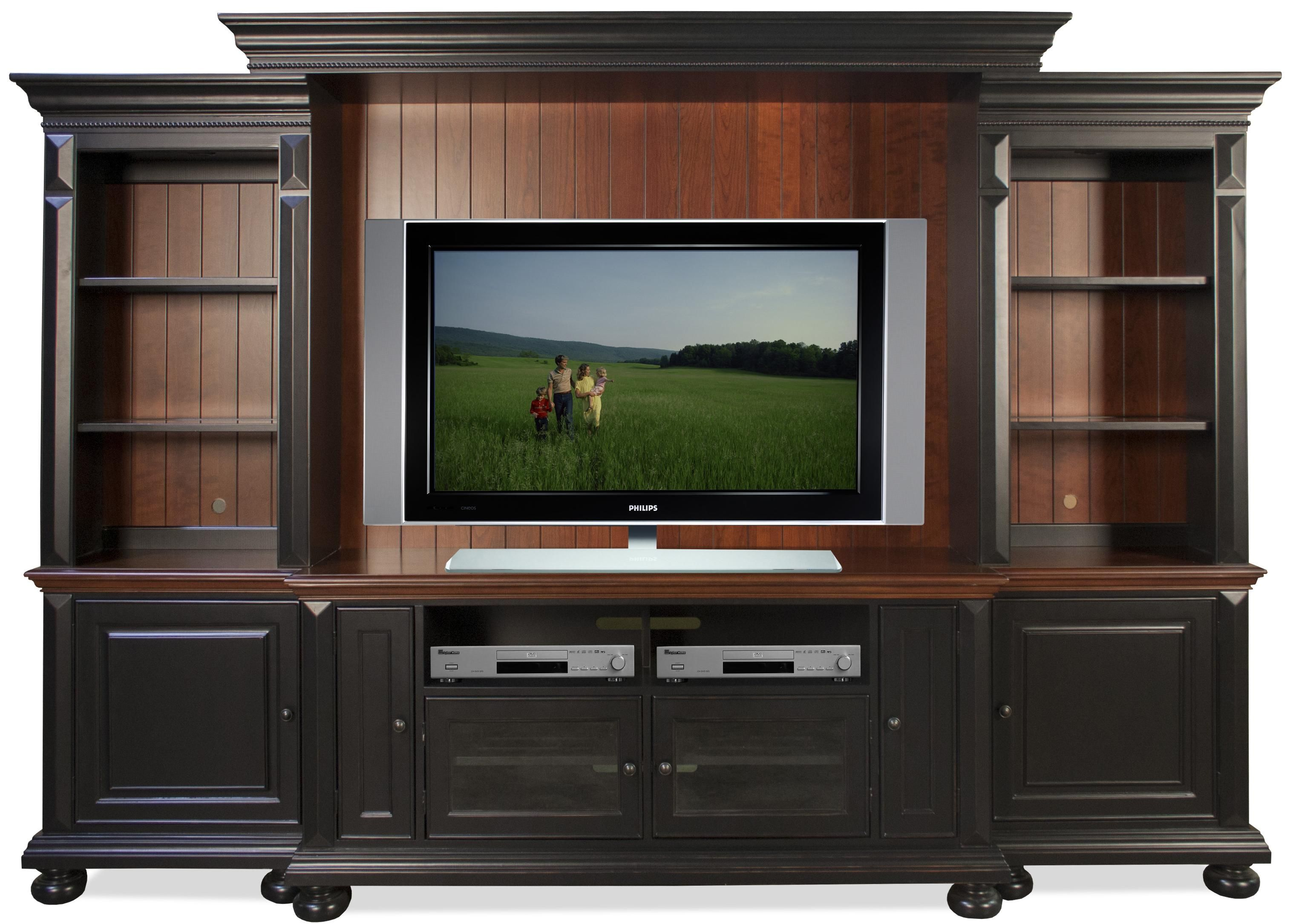 Richland Entertainment Wall Unit By Riverside Furniture Wolf
