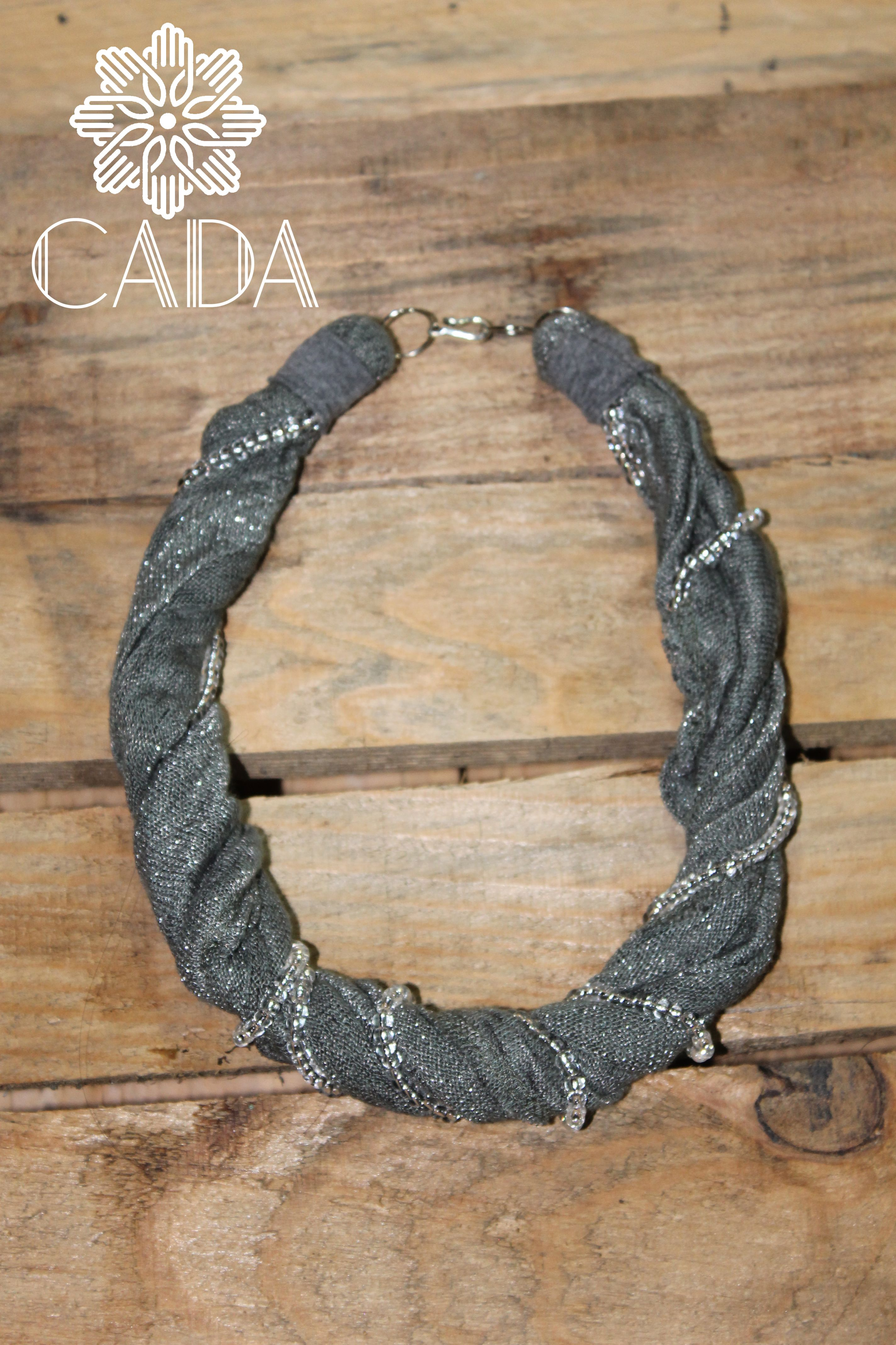 recycled textil necklace Q40.00
