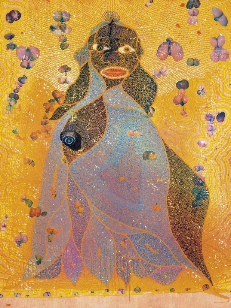 Chris ofili 1996 the holy virgin mary young british