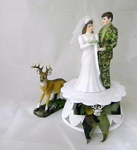 Camo Wedding Reception Ideas: Humorous Camo Wedding Reception Deer Hunter Hunting Cake