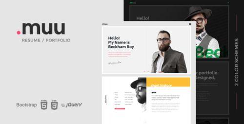 MUU \u2013 Unique and Creative Resume / Portfolio - webmastersource
