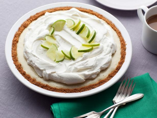 Recipe of the Day: Frozen Key Lime Pie          Ina fills a buttery graham cracker crust with a rich, tangy key lime filling and a whipped cream topping before freezing the pie overnight.          #RecipeOfTheDay