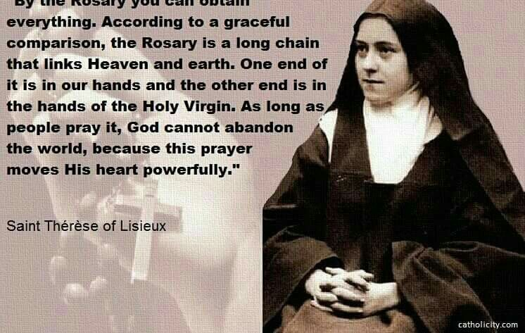 By The Rosary You Can Obtain Everything St Therese Of Lisieux
