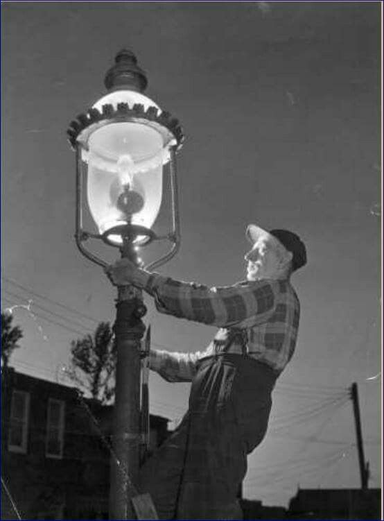 Baltimore Gas Street Lamp Lighters Before Switching Over