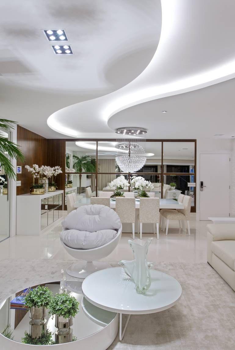 Apartamento moderno com decora o sofisticada em cores for Sala design moderno
