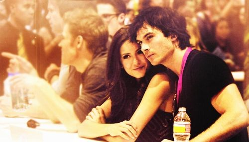Nina Dobrev and Ian Somerhaldern #Celebs #TheVampireDiaries