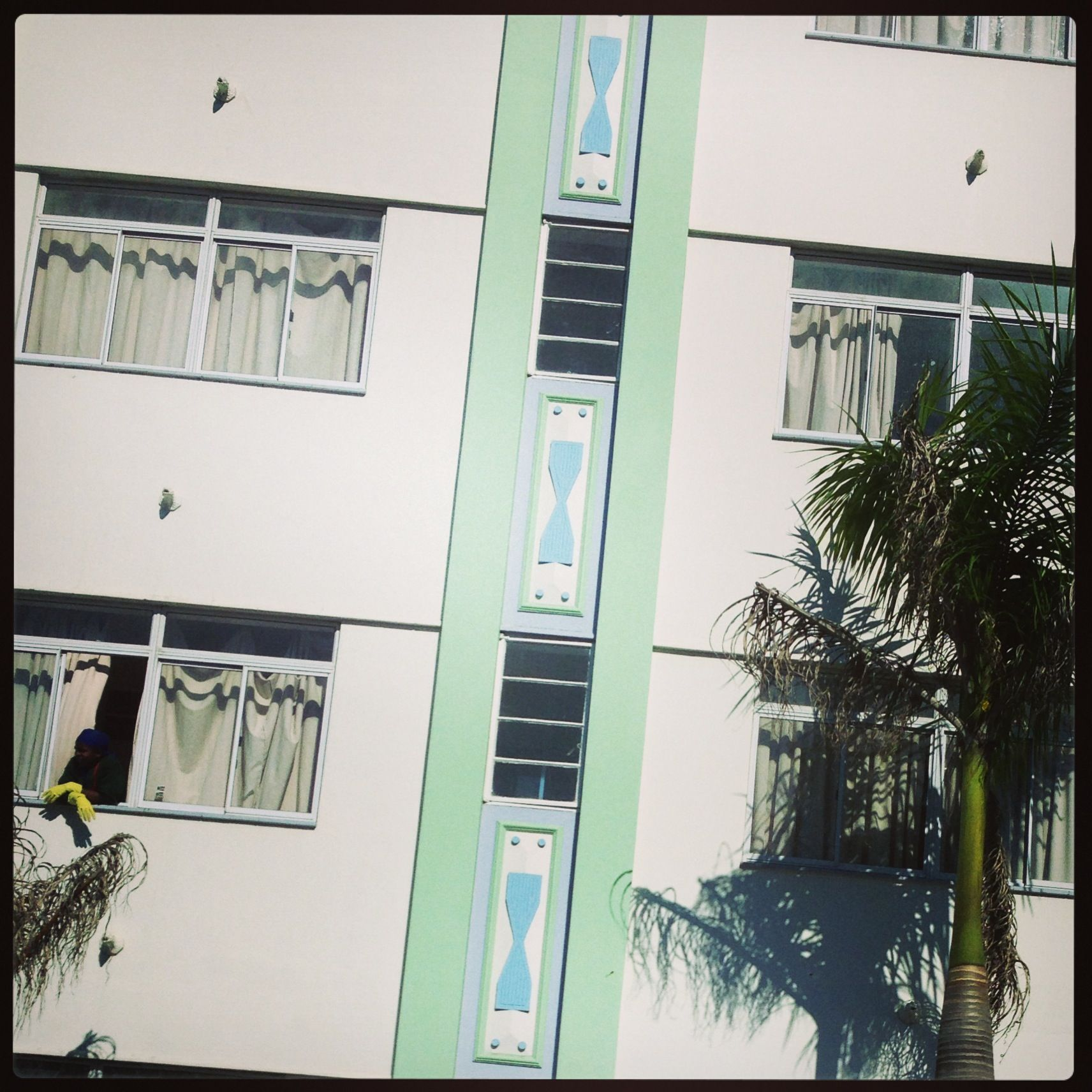 Art Deco, Berea Road, Durban - pity about all the ugly security ...