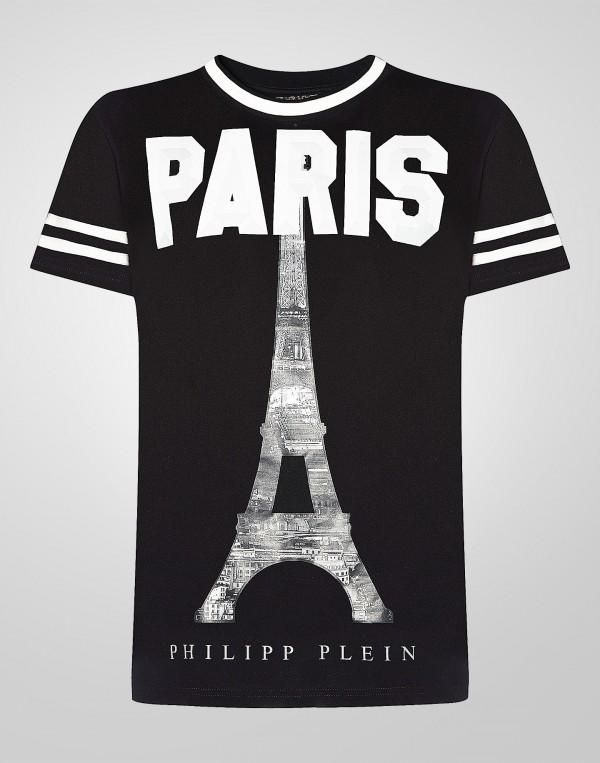 Sign Gold Cut T-shirt - Black Philipp Plein