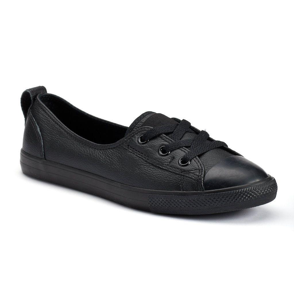 12932e26a59223 Women s Converse Chuck Taylor All Star Leather Ballet Flats