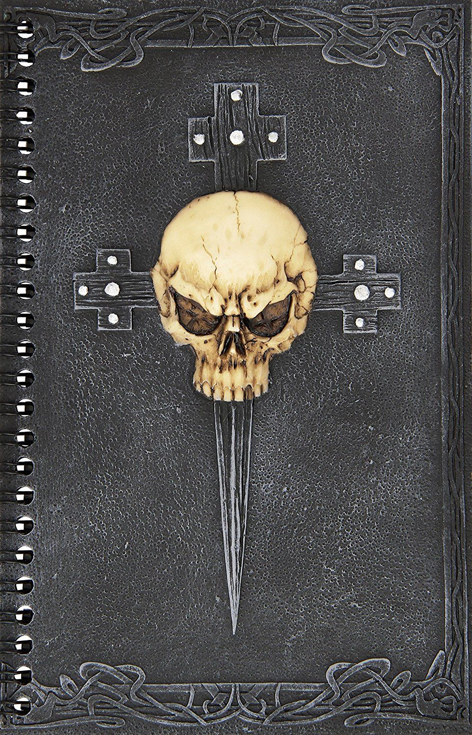 Design Toscano Gothic Skull Cross Secret Journal * You can