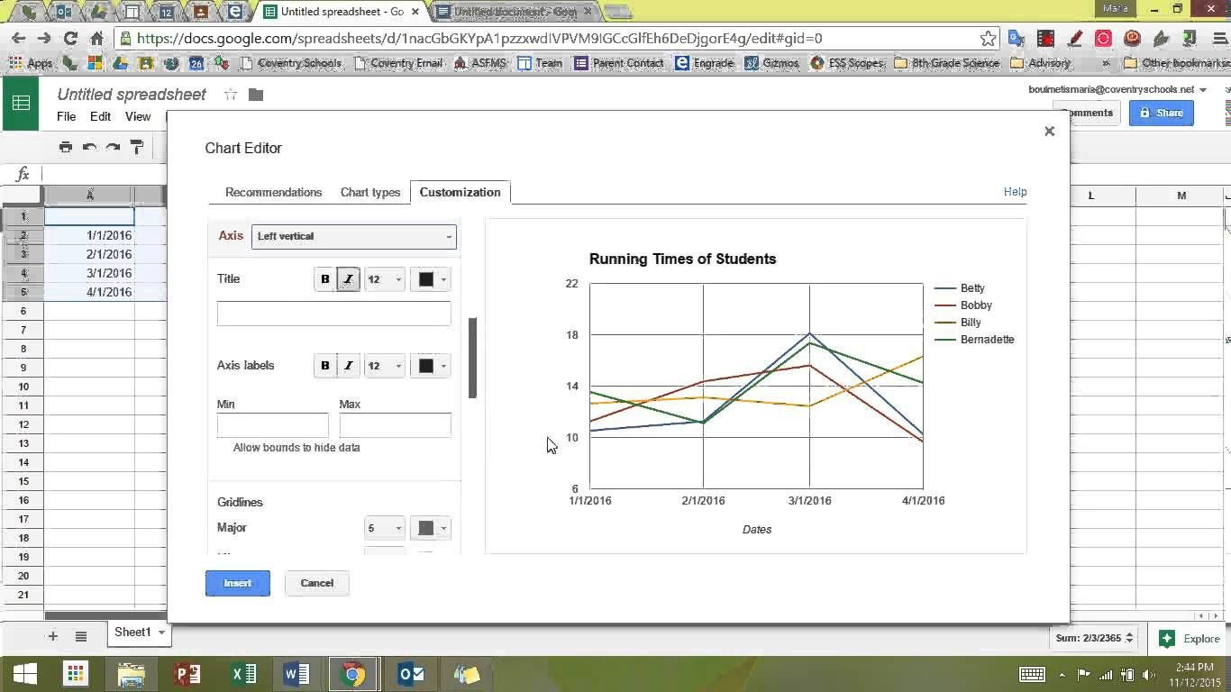 Making A Multi Line Line Graph In Sheets