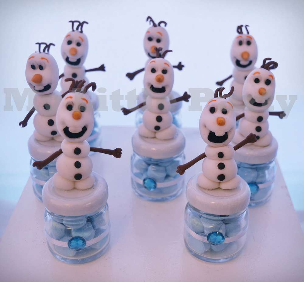 Olaf favors at a Frozen birthday party! See more party