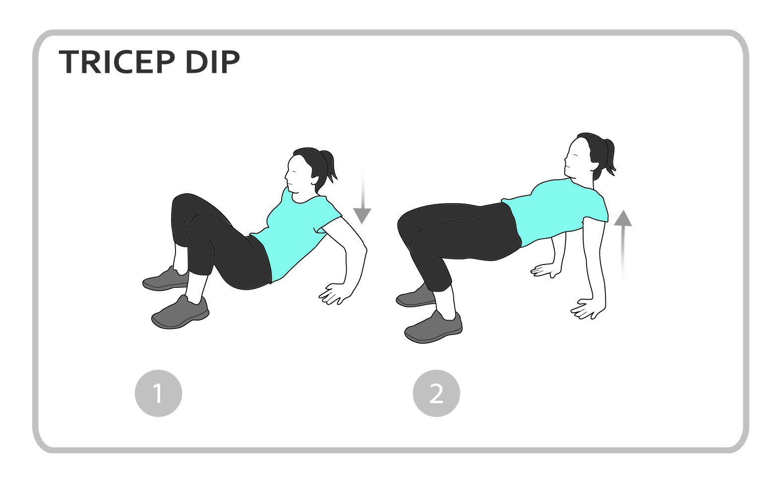 Tricep Dip Exercise Diagram Upper Body Personal Fitness