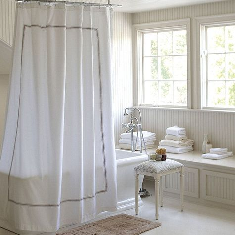 Amelie Embroidered Shower Curtain Gray Shower Curtains Black