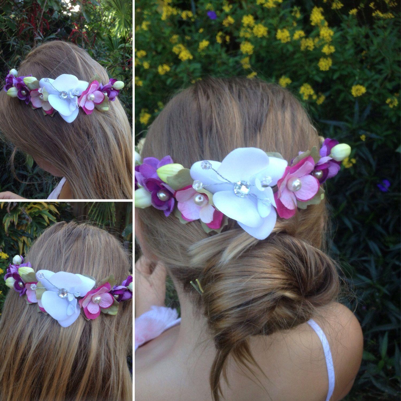 Sale Flower Crown Bridal Headpiecefloral Halo Wreathboho Hair