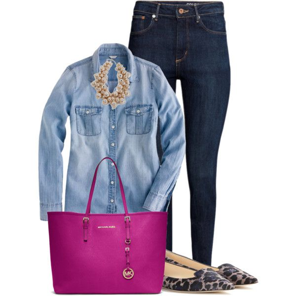 MK by f180289 on Polyvore featuring polyvore, fashion, style, J.Crew, H&M, Jimmy Choo, MICHAEL Michael Kors and clothing