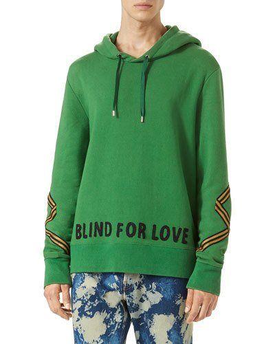 Cotton Hoodie Sweatshirt w/Appliqué, Green   *Neiman Marcus ...