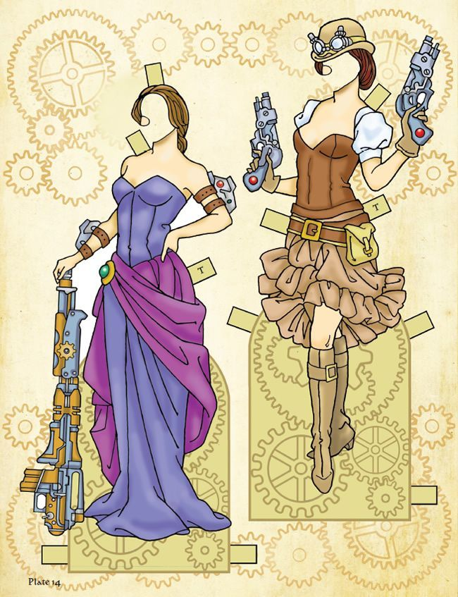 Steampunk Paper Dolls | Welcome To Dover Publications Steampunk