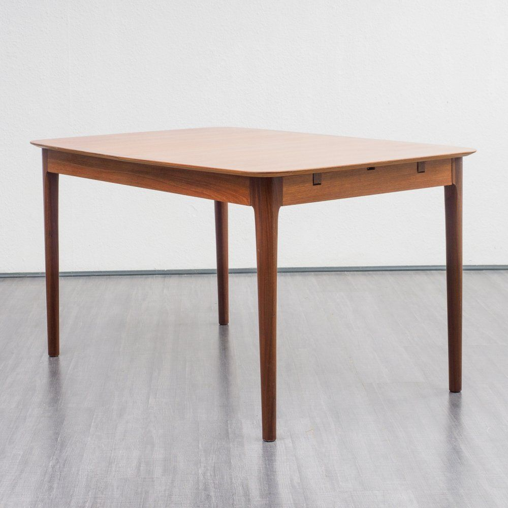 For Sale Large Vintage Extendable Teak Dining Table By Lubke Germany 1960s Dining Table Teak Dining Table Table
